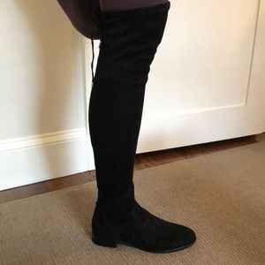 Dolce Vita over-the-knee black suede boots